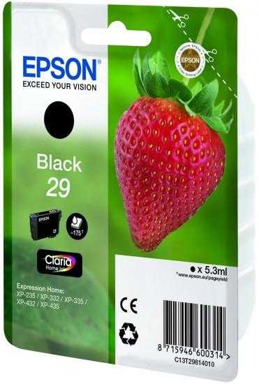 epson cartouche d 39 encre 29 fraise noire claria home pas cher achat vente pack de. Black Bedroom Furniture Sets. Home Design Ideas