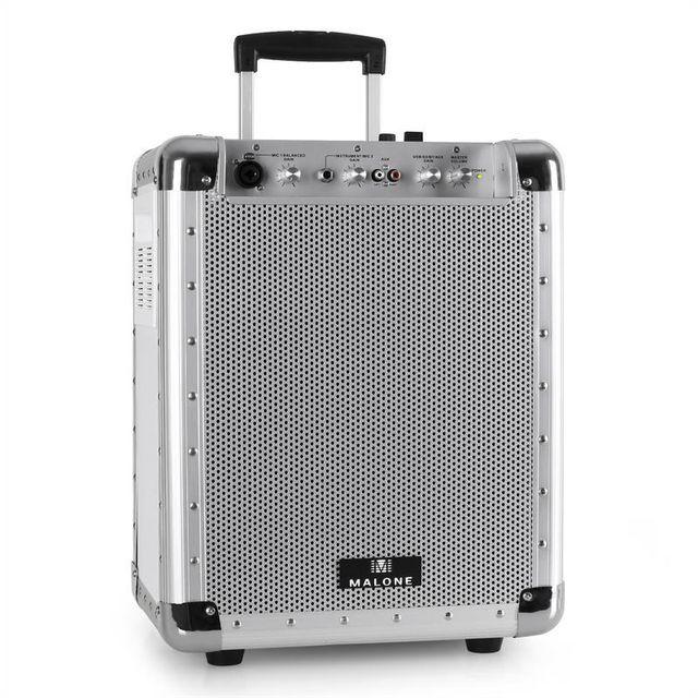 AUNA Malone PAS1 Streetrocker Sono portable USB SD AUX Bluetooth 50W RMS -blanche
