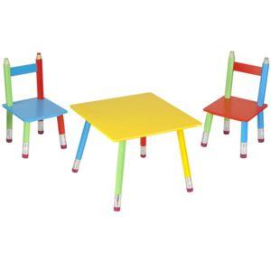 la chaise longue table et chaises pour enfant crayons multicolore 55cm x 43cm x 55cm pas. Black Bedroom Furniture Sets. Home Design Ideas
