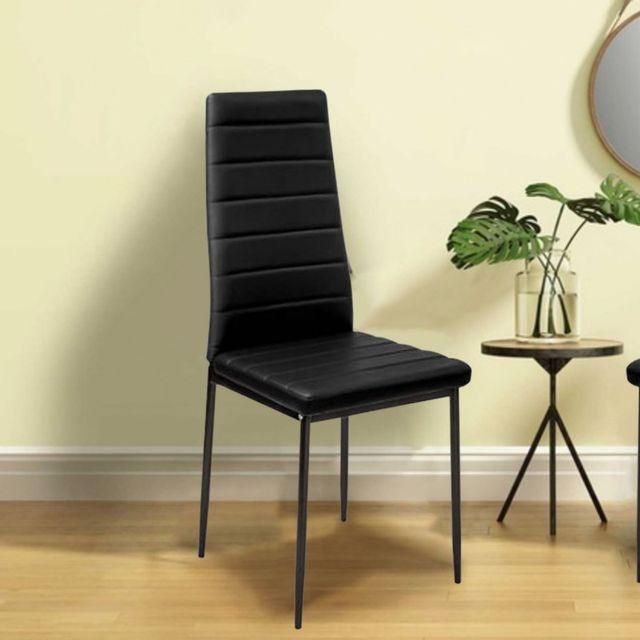 IDMARKET - Lot de 6 chaises Romane noires pour salle à manger - pas ...