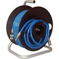 Lacmé - Enrouleur pneumatique manuel + 20 m de tuyau air comprimé
