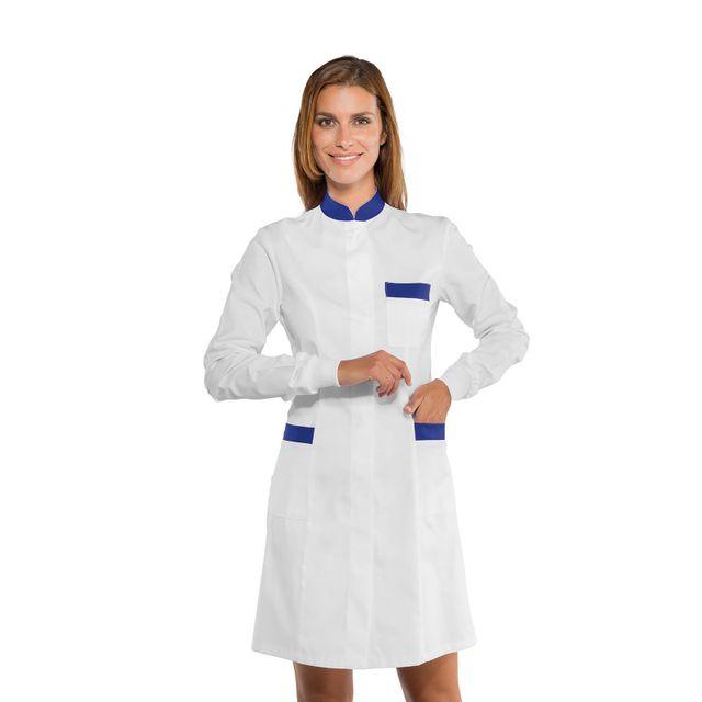 vraie affaire prix d'usine double coupon Isacco - Blouse de travail Femme avec poignets tricot - pas ...