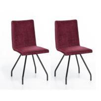chaises Rouge cher Altobuy 2 Lot bistrot pas Bistrot VpLUqzGSM