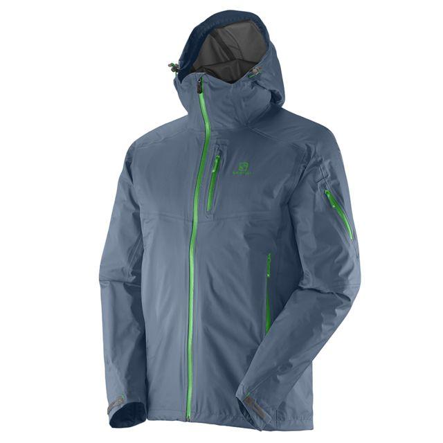 salomon veste de randonn e tour2 jacket m bleu bleu pas cher achat vente coupe vent. Black Bedroom Furniture Sets. Home Design Ideas