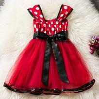 Glareola - Vêtement enfant, Robe de sortie pour enfants, robe légère pour fille, vêtement pour petite fille de 2 à 12 ans rouge glamour