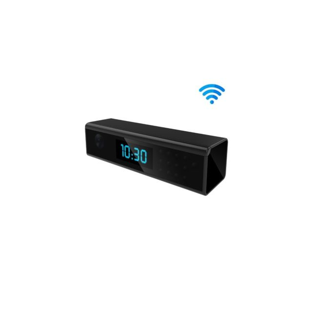 Auto-hightech - Mini caméra full Hd 1080P en forme d'horloge numérique avec Wifi - Vision nocturne - Détecteur de mouvement - Affichage de l'heu