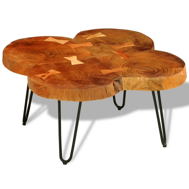 Vidaxl Table basse d'appoint en bois massif Sheesham 35 cm 4 troncs