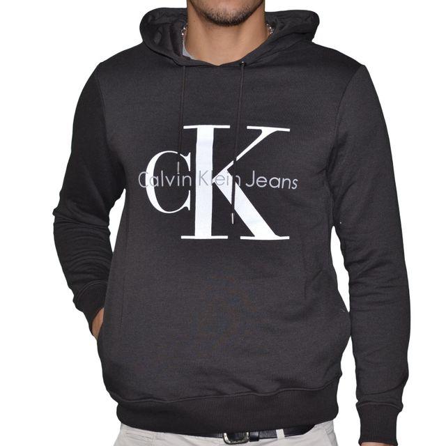 d69aced9ecf Calvin Klein - Calvin Klein - Sweat à Capuche - Homme - J3ij301814 90 s -  Noir