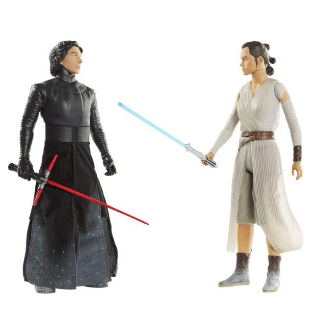 STAR WARS - Pack de 2 figurines REY et KYLO REN - 45 cm - 44382