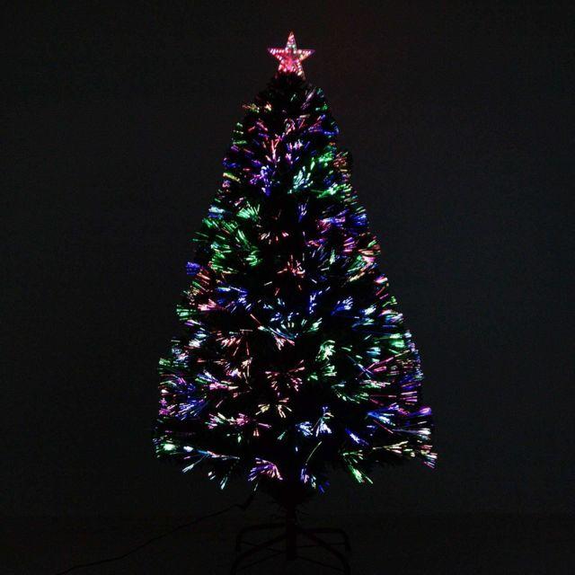 Sapin De Noel Avec Led HOM  Sapin de Noël artificiel lumineux fibre optique LED