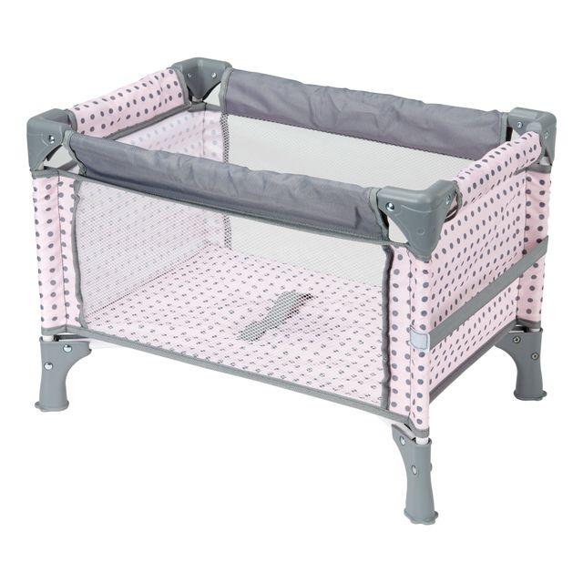 aimantine lit parapluie pour poupon gris et rose pas cher achat vente pu riculture poup es. Black Bedroom Furniture Sets. Home Design Ideas
