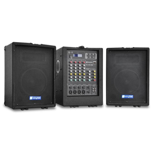 SKYTEC Equipement Sono portable PA-100 USB-MP3 mixer