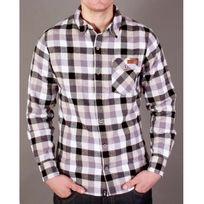 K1X - Chemise Lumbercheck shirt noir, blanc, gris