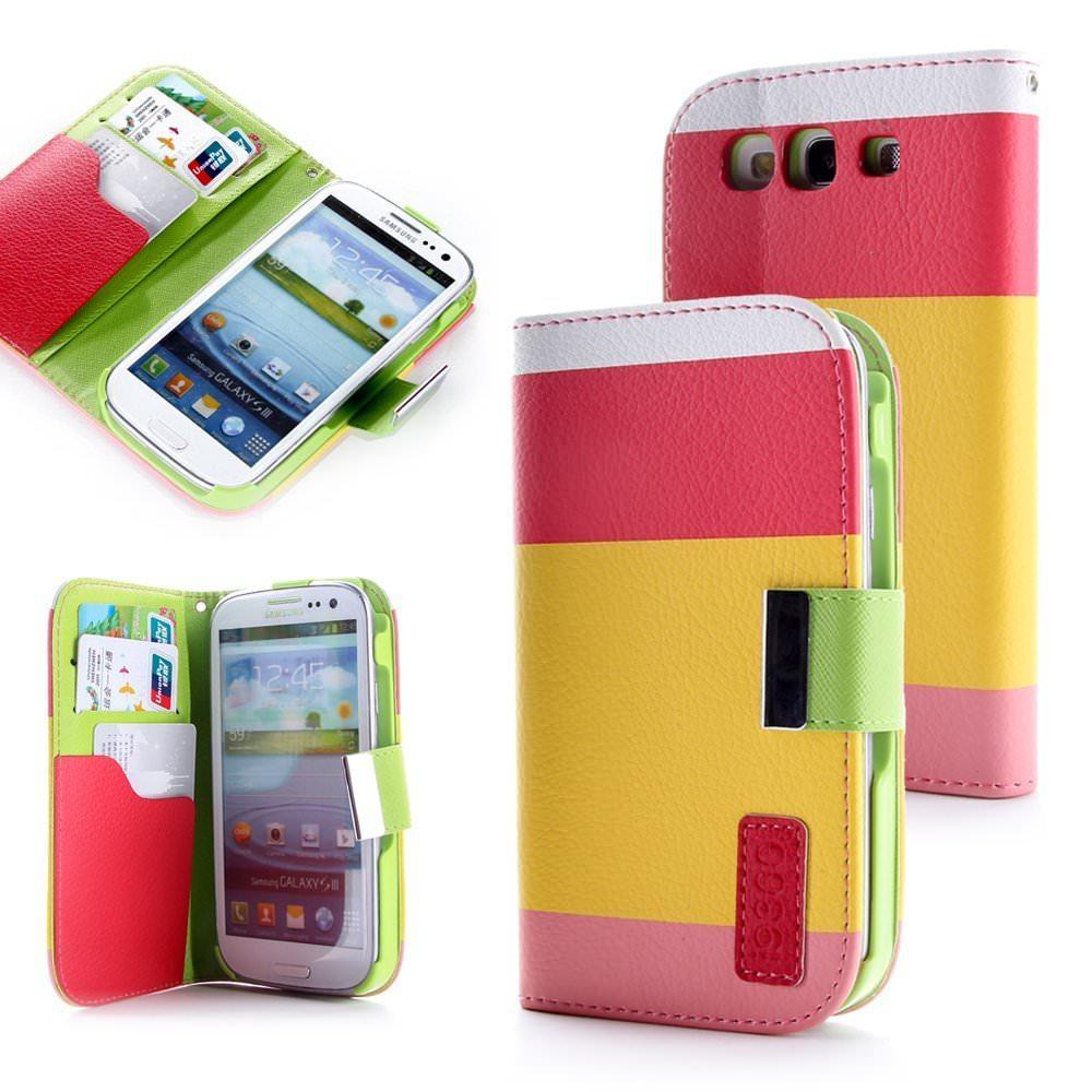 Lapinette - Etui Housse Tri-Couleur Pour Samsung Galaxy S3 - Rose jaune rose