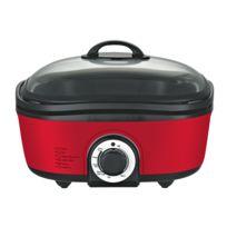 TRIOMPH Multi-cuiseur 12 en 1 - 5 L - 1400 W MULTICUISEUR 12 en 1 – 5 L – 1400W- Cuve en revêtement antiadhésif de 5L- Couleur :Rouge- 350 x 330 x 215 mm- 4,8 kg