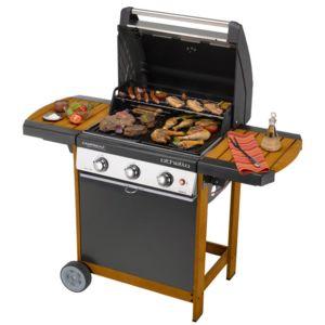 campingaz barbecue gaz 3 br leurs gril plancha chariot bois othello woody 3l pas. Black Bedroom Furniture Sets. Home Design Ideas