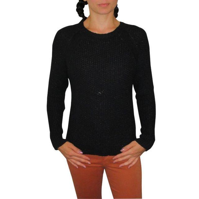 3dc607390621 Pepe Jeans - Pull penny noir - pas cher Achat   Vente Pulls femme -  RueDuCommerce