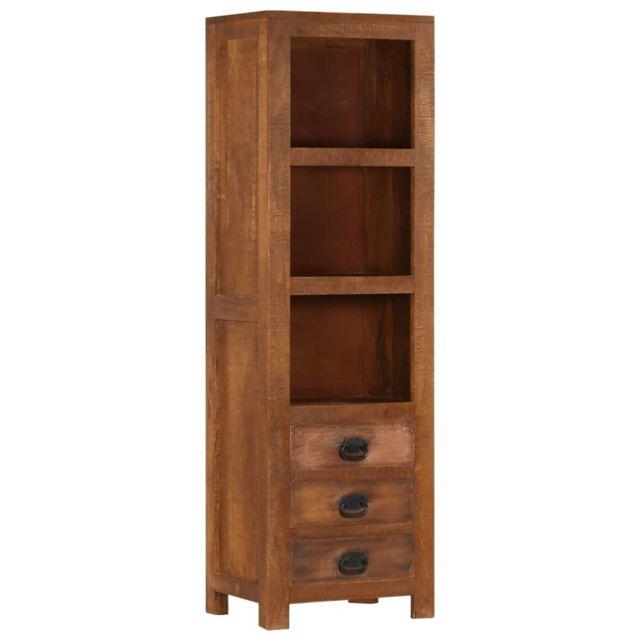 Contemporain Armoires & meubles de rangement serie San Salvador Buffet avec 3 tiroirs 40x30x130 cm Bois massif de mangui