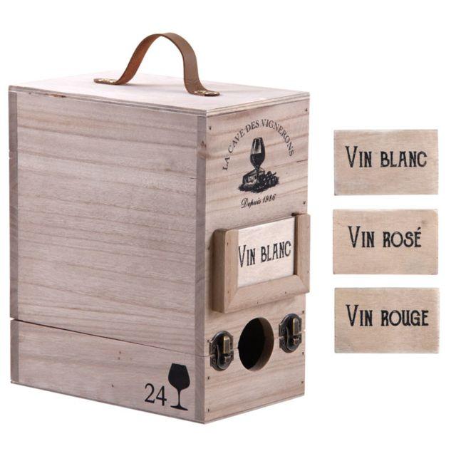 AUBRY GASPARD Boite à cubi 3 litres en bois