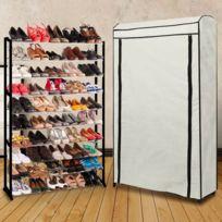 ProBache - Etagère range chaussures 50 paires Eco avec sa housse écrue