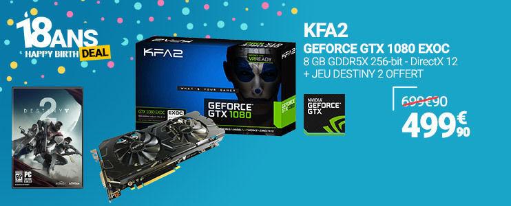 Carte graphique KFA2 NVIDIA GeForce GTX 1080 EXOC 8GB