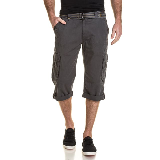 Legenders - Pantacourt homme gris anthracite