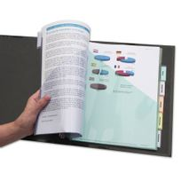 Avery - Intercalaire pochette neutre multicolore A4 plastique 6 onglets - 1 jeu
