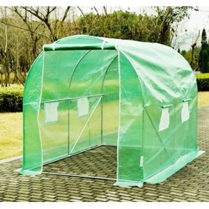 homcom serre de jardin tunnel zincage tente bache 2 5x2x2m grande taille 84 pas cher achat. Black Bedroom Furniture Sets. Home Design Ideas