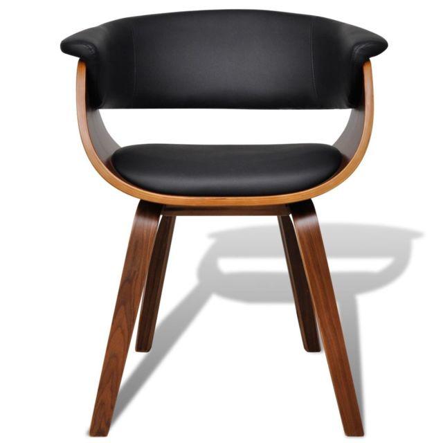 Chaise de salle à manger 2 pcs Cadre en bois Cuir synthétique 270546 | Multicolore