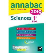 Hatier - Annabac Sujets & Corriges ; sciences ; 1re Es, L édition 2019