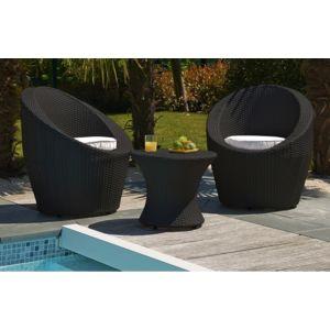 Dcb garden salon de jardin 3 pi ces empilables noir 2 for Dcb garden salon de jardin