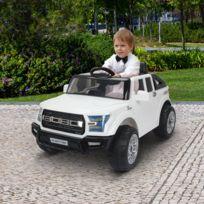 HOMCOM - Voiture électrique 4x4 pour enfants max 5 Km/h 12 V effets sonores et lumineux blanc 22