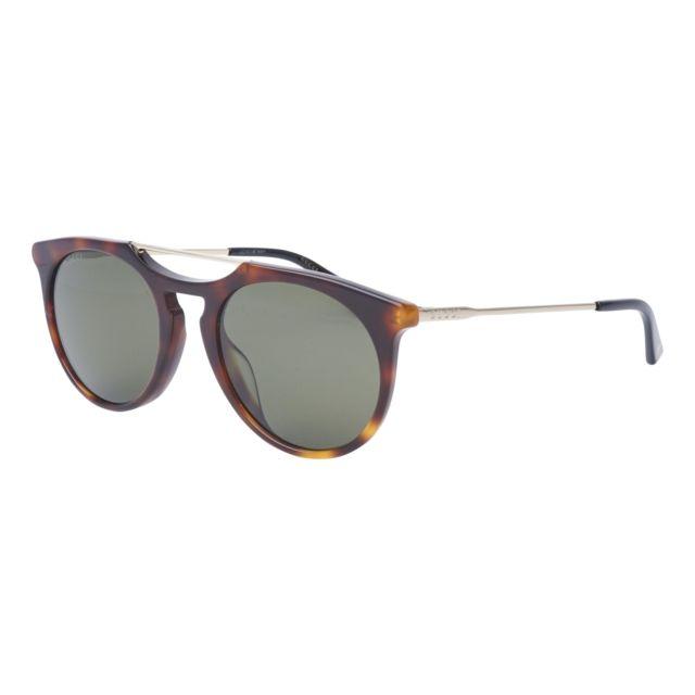 f0f49429797ec1 Gucci - Lunettes de solei Gg-0320-S 004 Homme Marron - pas cher Achat   Vente  Lunettes Tendance - RueDuCommerce
