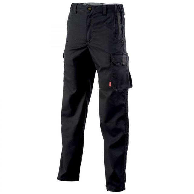 Adolphe Lafont Pantalon de travail sans poches genoux noir