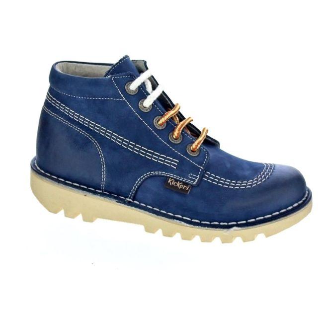e288c7dcf94823 Kickers - Chaussures Femme Bottine modele Neorallye 10 Bleu - pas cher Achat  / Vente Bottes femme - RueDuCommerce