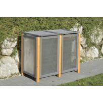 abri pour 3 poubelles exterieur achat abri pour 3. Black Bedroom Furniture Sets. Home Design Ideas