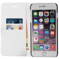Mocca Design - Etui Folio Porte Cartes Blanc Iphone 6 Plus