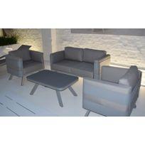 salon de jardin aluminium gris - Achat salon de jardin aluminium ...