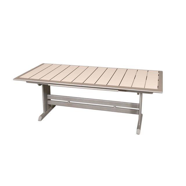 Alinéa - Hegoa Table de jardin extensible grise en stratifié Hpl 8 à ...