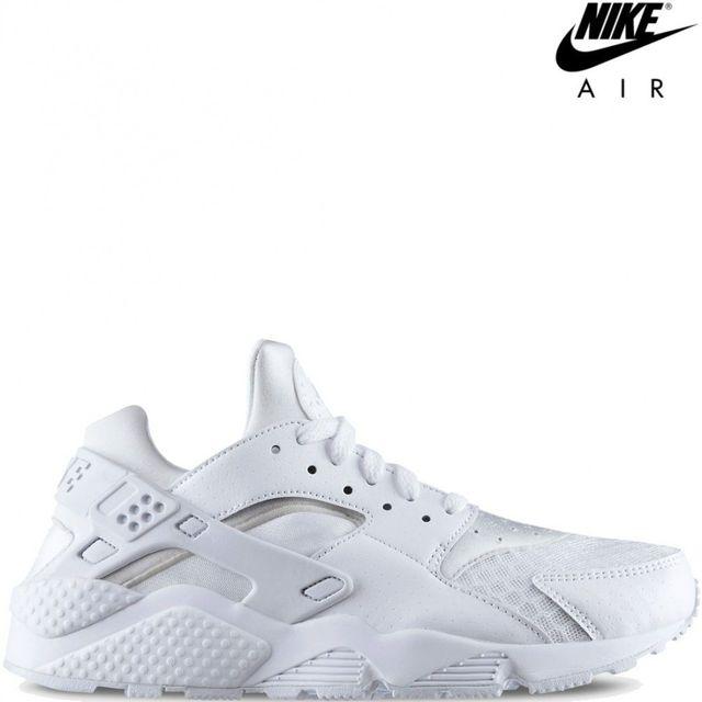 Nike Air Huarache Triple Blanc/Pure Platinum 318429 111 huarache