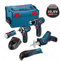 Bosch - Pack de 5 machines 10.8V 2Ah Li-Ion en L-BOXX 0615990GE8