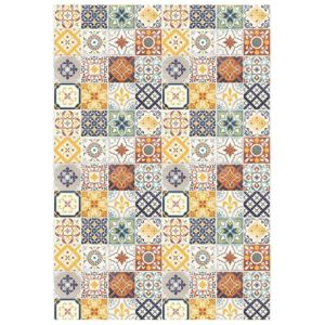 mon beau tapis tapis motifs carreaux de ciment jaune. Black Bedroom Furniture Sets. Home Design Ideas