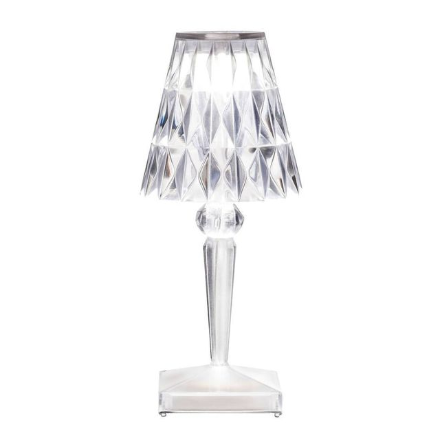 kartell battery lampe poser led d 39 ext rieur rechargeable transparent h22cm pas cher. Black Bedroom Furniture Sets. Home Design Ideas