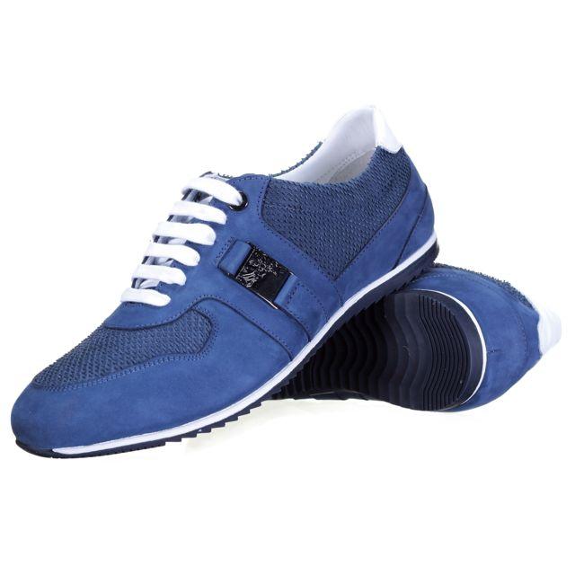 Versace collection - Chaussure V900302 Bleu - pas cher Achat   Vente Baskets  homme - RueDuCommerce 35763f49e9e