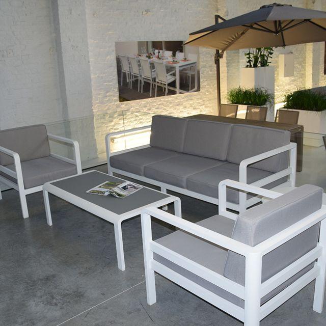 Gecko Jardin - Salon de jardin 5 places en aluminium Icon ...