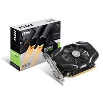 MSI - GeForce GTX 1050 Ti 4Go DDR5 OC