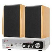 DynaVox - Amplificateur Hi-Fi 150 W Argent/hêtre