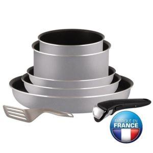 Tefal - Ingenio Essential Batterie de cuisine 7 pieces L2149402 16-18-20-22-26cm Tous feux sauf induction