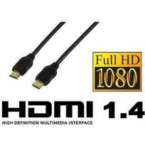 Valueline - Cable Hdmi 1.4 Full Hd 1080p et Ethernet - Contact Or 1m