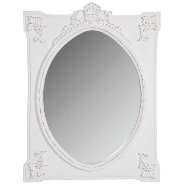 AUBRY GASPARD Miroir rectangulaire blanc
